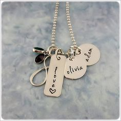 Hand Stamped Infinity Necklace  by StampedUnderTheMoon on Etsy, $58.00