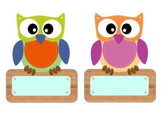 Owl Name Tags, Cubby Name Tags, Newborn Crafts, Preschool Names, Diy And Crafts, Crafts For Kids, Owl Theme Classroom, Owl Wallpaper, Owl Patterns