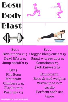 Mix up your workout with this full body, hit every muscle group Bosu Ball workout tht will have you sweating for sure. workouts, cross training, Bosu, strength training. Bosu body Blast