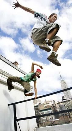 """When #Parkour says """"Jump,"""" you don't say anything because you're busy jumping!"""