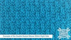 Example of the Double Basket Weave Stitch Right Side