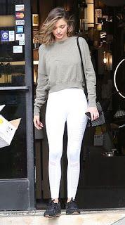 Celebrity Style | 海外セレブリティ最新スタイル情報 : 【ミランダ・カー】グレー×ホワイトのスポーティスタイルで婚約者エヴァンとショッピング!