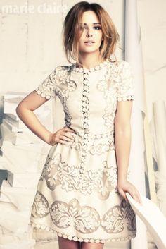 Cheryl Cole (that Shania Twain lookalike imo) wearing the 2012 Valentino dress