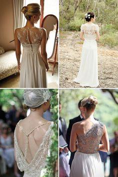 Magnolia Rouge: Round up, Lace back Wedding dresses    Nuptialista.com