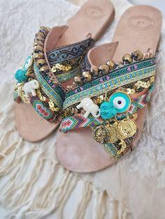 https://www.etsy.com/listing/575690632/dhl-freegreek-sandalsstrappy #bohosandals #ethnicsandals #greeksandals