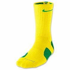 Men's Nike Elite Basketball Crew Socks - Medium| FinishLine.com | Yellow Strike/Apple Green