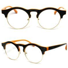 New Mens Womens Wayfarer Retro Classic Frames Clear Lens Glasses Eyewear-A401 Black&Orange. Lens Size: Width:49mm / Height:45mm. Smooth Glossy Finish. Color: Black&Orange. Russian Region Except Moscow,Ukraine,Kazakhstan,Azerbaijan,Latvia,Moldova,Belarus,Estonia.Case.   eBay!