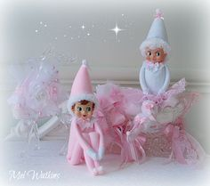 FOR SALE:  Pink elf boy and a white & pink elf girl <3
