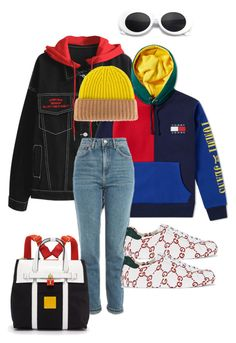 """D O P E B O I"" by xxxthebombshellfactoryxxx ❤ liked on Polyvore featuring Tommy Hilfiger, Topshop, Gucci, DANIELAPI, Henri Bendel, men's fashion and menswear"