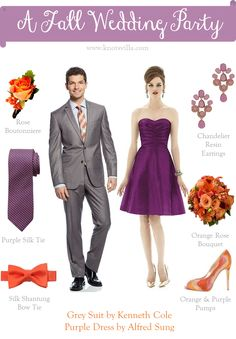 Fall Wedding Style for Bridesmaids and Groomsmen » KnotsVilla