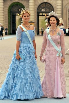 images of princess victoria of sweden's wedding - Silvia and Madeleine