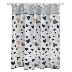 Heart Shower Curtain Blackberry Frost - Pillowfort™. Image 1 of 2.