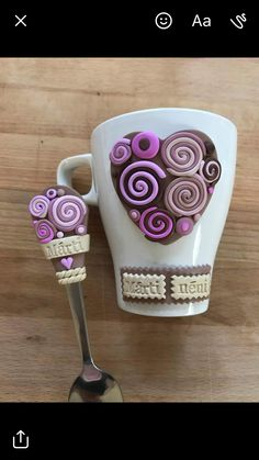 Sculpey Clay, Polymer Clay Projects, Polymer Clay Creations, Polymer Clay Art, Cute Mug, Clay Cup, Clay Dragon, Clay Figurine, Pasta Flexible