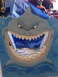 Shark Toss Game for kids Shark Birthday! Shark Games For Kids, Fishing Games For Kids, Sharks For Kids, Pixar Cars Birthday, Birthday Party Games For Kids, Disney Birthday, Ocean Party, Shark Party, Pirate Kids