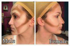 How to contour men and women - make-up and all around! - How to contour men and women – make-up and all around! Cosplay Makeup Tutorial, Cosplay Diy, Drag Makeup Tutorial, Female Cosplay, Male Contour, Contour Face, Makeup Fx, Beard Makeup, Makeup Geek