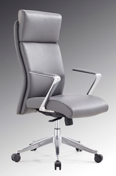 Modrest Iger Modern Grey High-Back Office Chair VGFUA1511-GRYProduct: 71724Features :Upholstered In Grey LeatheretteAluminium ArmrestsErgonomic DesignWood Frame With High Density FoamPadded HeadrestGas-Lift Adjustable HeightTilt Control - Tilt Backwards4-Position Lockable MechanismLumbar Support - Not AdjustableDesigned For Tall PersonDesigned For Extended UseSwivels5-Point Chrome Rolling BaseHooded CastorsMax. Weight Capacity: 550 Lbs.Warranty: 5 YearsAssembly RequiredDimensions:Chair : W26