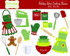 50 OFF Cooking Clipart Baking Clipart Holiday by WithEnvyPaper, $1.75