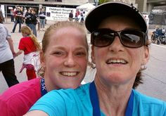Justine and I at the Flying Pig 5k BEFORE the race....April 30,2011