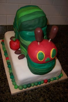 """How adorable is this """"Hungry Caterpillar""""  cake?"""