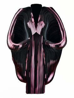 Hybrid Holism, Dress, July 2012 - Metallic coated stripes, tulle, cotton. Collection of the designer.