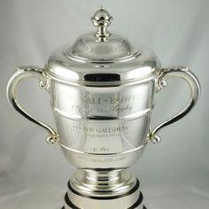 Silver sports trophy