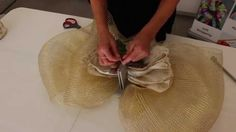How to Make a Large Gold Bow in Minutes