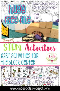 Easy STEM activities to use with building blocks. This post shares ideas on how to make block play meaningful as we develop a generation of critical thinkers! Science and engineering ideas for kindergarten.
