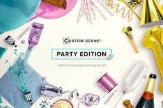 Party Edition - Custom Scene by Román Jusdado on Creative Market | Party Edition includes bunch of items to get on with that party. You will be able to create Event Invitations, stunning Party graphics or any Celebration design. Build your own Party scene or use one of the pre-made scenes and let's party! Pre made Party Scenes| Party Styled stock photos | Party Scene Generator | Custom Party Scene Generator