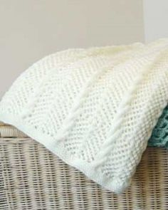 Chevron-lace-cables-afghan free knitting pattern