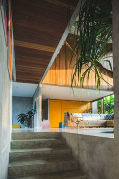 Bali-based Patisabdhika Studio and architect Daniel Mitchell recently completed this gorgeous brutalist house. Named A Brutalist Tropical Home in Bali, the Architecture Design, Tropical Architecture, Amazing Architecture, Sustainable Architecture, Sketchbook Architecture, Minimalist Architecture, Victorian Architecture, Architecture Portfolio, Concept Architecture