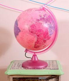 Pink World Globe
