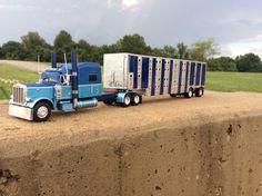 DCP 1/64 Custom 379 Peterbilt W/ Wilson Livestock Trailer #dcp #Peterbilt