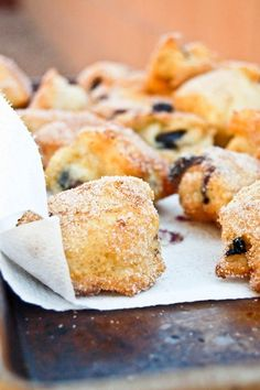 Blueberry Breakfast Fritters    Could make these healthier by eliminating the dairy, adding TONS more blueberries, natural sugars, etc.!