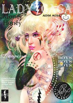 Lady GaGa雜誌彩妝 - 閃電妝 - HOELEX  卡卡GAGA瘋引全台XDD 所以連我都瘋狂想要來畫一下他的彩妝XD 主要她不是只是會造型搞怪有創意! 而是他的創作歌曲很多也很好聽XD 充滿了強烈的想法與爆發力! 難怪無人能夠取代! 成為現在的風雲人物!!XD   學生作品分享>>> http://blog.yam.com/hoelex/article/39540236
