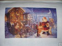 Santa Claus at The North Pole [GUSTAFSON2256] - $19.00 : Heaven And Earth Designs, cross stitch, cross stitch patterns, counted cross stitch, christmas stockings, counted cross stitch chart, counted cross stitch designs, cross stitching, patterns, cross stitch art, cross stitch books, how to cross stitch, cross stitch needlework, cross stitch websites, cross stitch crafts
