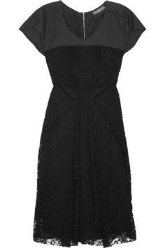 McQ Alexander McQueen Lace and Jersey dress, love the exposed zipper back
