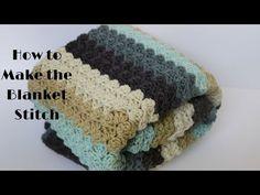 How to Make the Blanket Stitch (Crochet 101 Series) Stitch Crochet, Crochet 101, Crochet Videos, Crochet For Beginners, Learn To Crochet, Easy Crochet, Crochet Stitches, Free Crochet, Tutorial Crochet