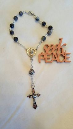 Auto Rosary! NEW ITEM!!  Handmade,Car Rosary, Small Rosary,  Rosary, Prayer Beads, Rosary Beads, catholic gifts, mens, Baptism Gift, womens by AutumnsBlessing on Etsy https://www.etsy.com/listing/461679660/auto-rosary-new-item-handmadecar-rosary
