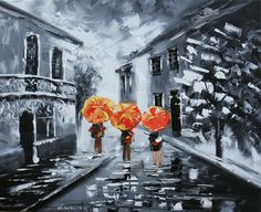 A WALK IN THE RAIN - € 91.35 Sizes:  50x60 Contact us info@chepakko.com Visit our website www.chepakko.com #chepakko #handmade   #pop #popart #vintage #tribal #orientalstyle  #abstract #trends #view #landscape #landscapes  #picture #painting #panel #canvas #oilcolors #oilpaint #art #artist #retrospective
