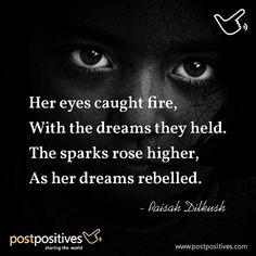 Let your dreams sparkle. #dream #poem #postpositives