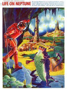 MAGAZINE COVER VINTAGE LIFE ON NEPTUNE ADVENTURE SPACE SCI FI 1940 POSTER CC3313   eBay