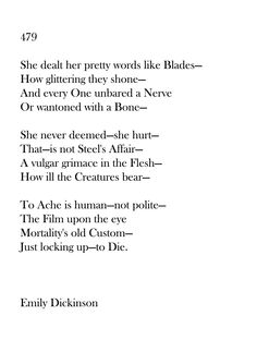 Emily Dickinson 479