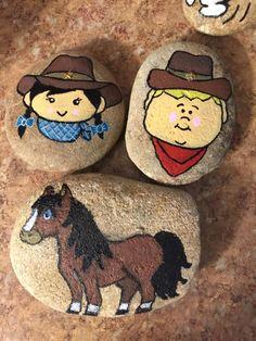 #cowboy #cowgirl #pony #western #rockpainting #vrrocks