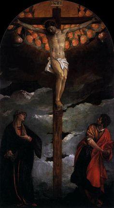 Crucifixion. Veronese. 1580. Oil on canvas. 305 x 165 cm. San Lazzaro dei Mendicanti. Venice.