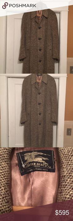 Vintage Burberry coat Vintage Burberrys tweed oversized coat , beautiful lined wool coat burberry vintage Jackets & Coats
