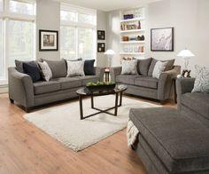 Albany Fabric Mixed Hardwood Living Room Set