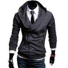 Modische Kapuzenpullover mit schrägem Reißverschluss Slim Fit Sweatshirt Pulli Fashion Season, http://www.amazon.de/dp/B00HIXMLPO/ref=cm_sw_r_pi_dp_JiRjtb0FW6HSD