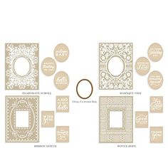Anna Griffin® Mix & Match Embossing Folders w/2 Dies AS (May 2015 shipment)
