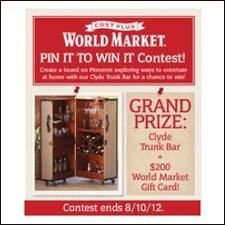 Cost Plus World Market PIN IT TO WIN IT Contest