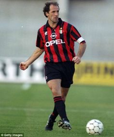 Franco Baresi, AC Milan, Italy. From the great age of Italian defenders. Skill and toughness.